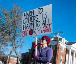 UVA rape protestor