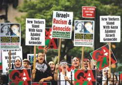Anti Israel demonstraters