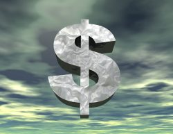 digital visualization of a dollar symbol