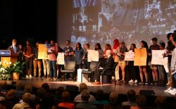Student Protest at Duke Alumni Meeting -